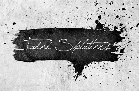 Free Faded Splatters Brush Set preview