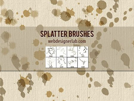 Splatter Brushes pack by webdesignerlab preview
