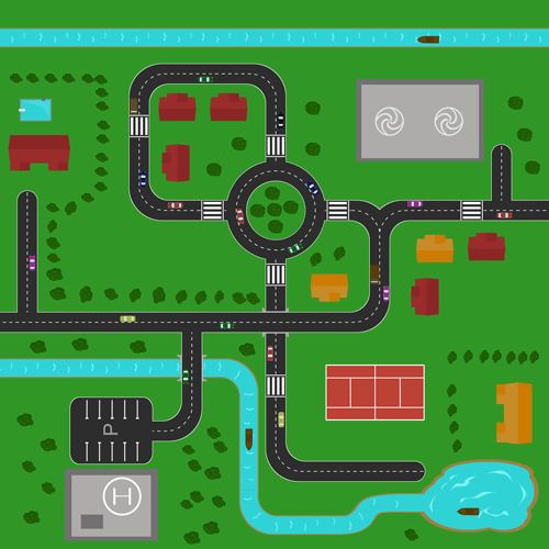example map created using the PSD