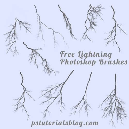 photoshop lightning brushes preview