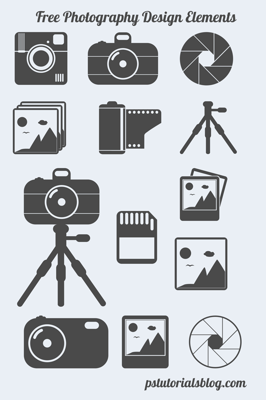 free photography icons preview