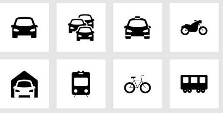 Transport icons by icons8