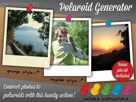 Polaroid Generator Action preview