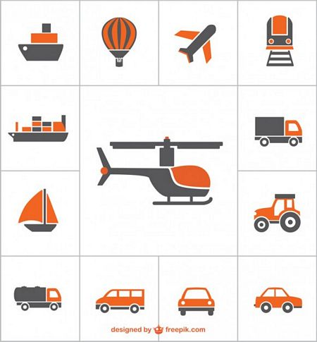 free vector transportation icons preview
