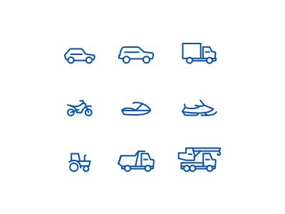 free transport icons preview
